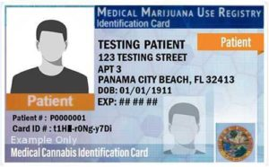 Express Marijuana Card Patient Medical Marijuana Use Registry ID card sample