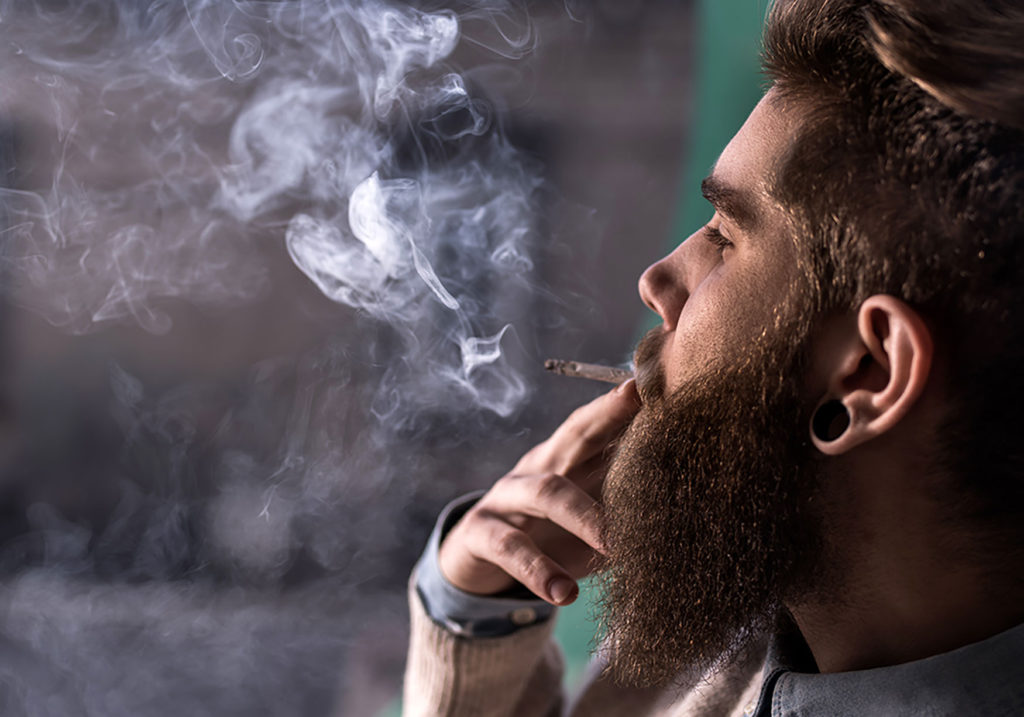 Image of Hipster Smoking Medical Marijuana in florida